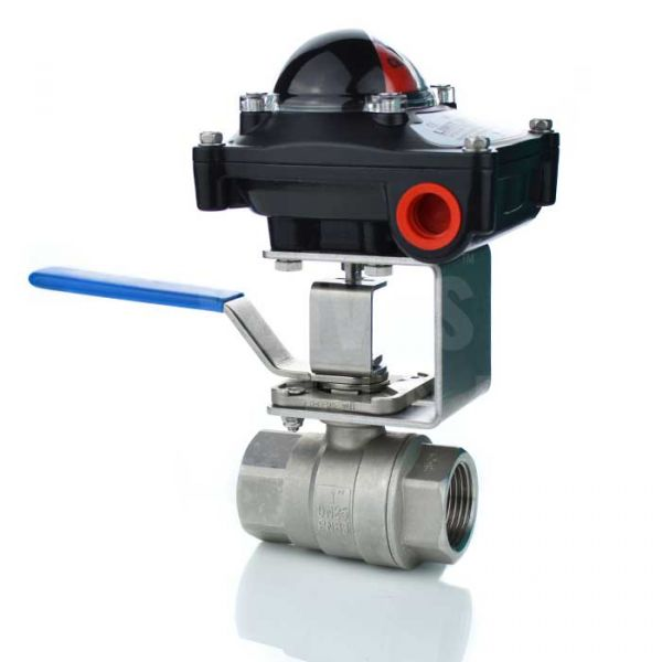 2 Piece Stainless Steel Manual Ball Valve with Limit Switchbox