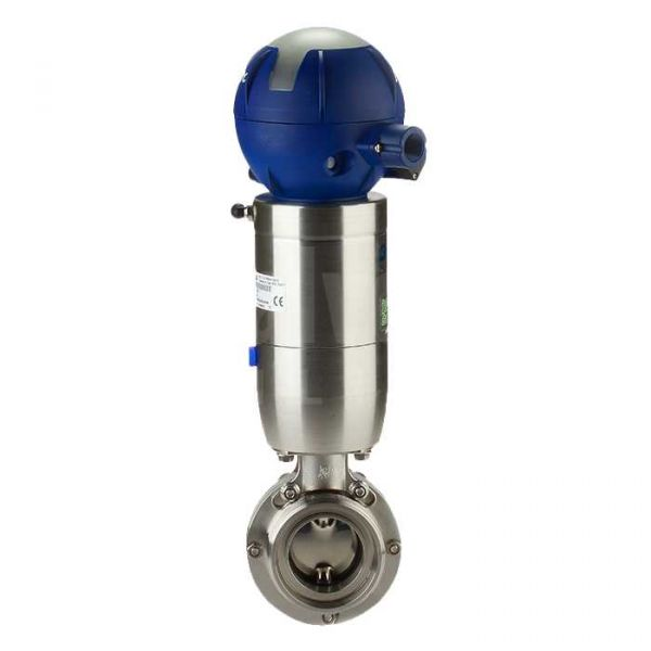 Pneumatic Actuated Bardiani Metric Weld Hygienic Butterfly Valve