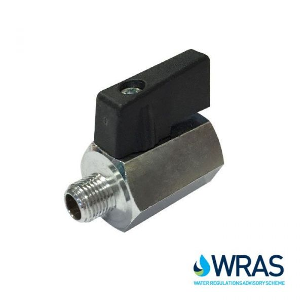 Brass Mini Ball Valve Winged Male / Female