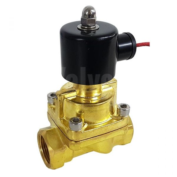 Brass Solenoid Valve 0.5-12 Bar Rated Steam Servo Assisted 3/8
