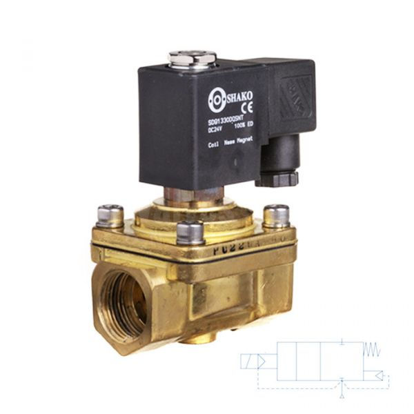 Brass Solenoid Valve 0 Bar Rated Assisted Lift 3/8