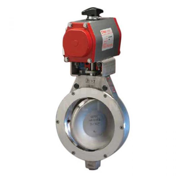 Bray Pneumatic Actuated Butterfly Valve Series 40 Double Offset Stainless Steel