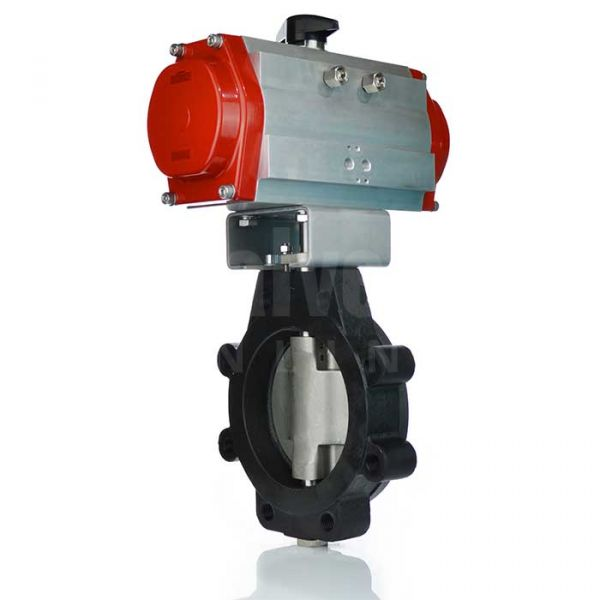 Bray Series 41 Pneumatic Actuated Butterfly Valve PN16 Carbon Steel