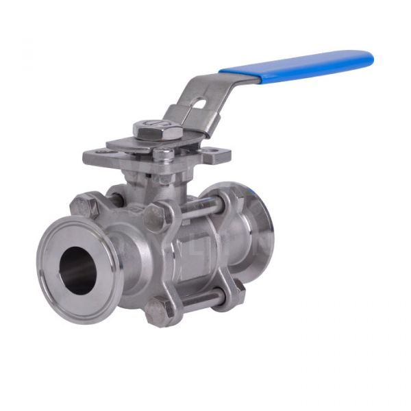 3 Piece Stainless Steel Sanitary Ball Valve - Tri Clamp