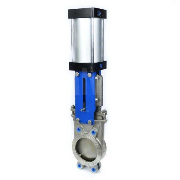 Economy Stainless Steel Knife Gate Valve - Pneumatic Actuated