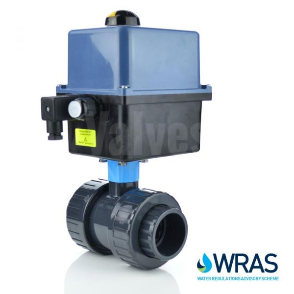 Electric Motorised PVC-U Ball Valve - On/Off & Failsafe