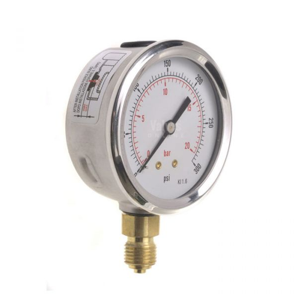 Industrial Pressure Gauge Stainless Steel Case