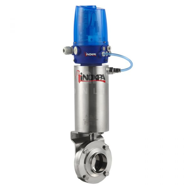 Inoxpa 4800 Hygienic Butterfly Valve with Pneumatic Actuator and C Top