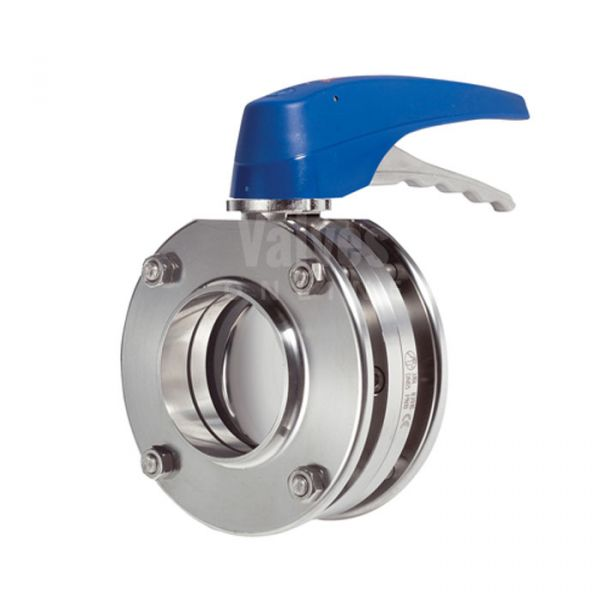 Inoxpa 4900 Hygienic Sandwich Butterfly Valve with 2 Position Pull Handle