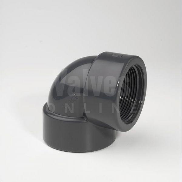 PVC 90° Imperial Inch x Threaded Adaptor Elbow