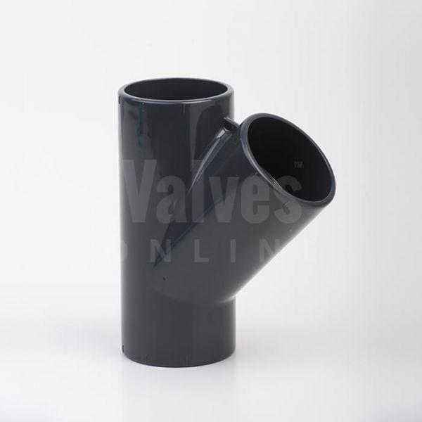 PVC 45° Metric Tee