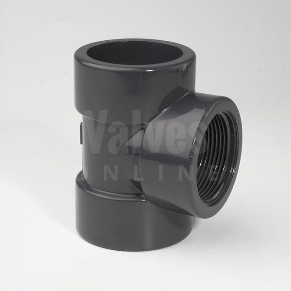 PVC 90° Metric x Threaded Tee