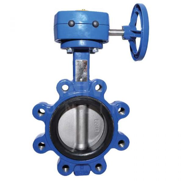 PN25 Ductile Iron Butterfly Valve - Lugged & Tapped with Gearbox