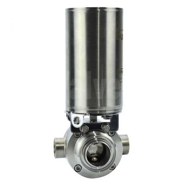 Pneumatic Actuated Hygienic Jacketed Butterfly Valve