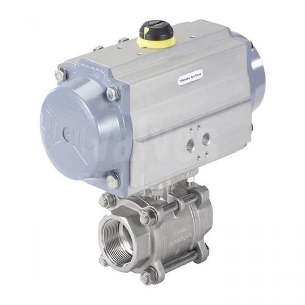 """Air Actuated Stainless Steel 3-Piece Ball Valve 1/4""""-2"""""""