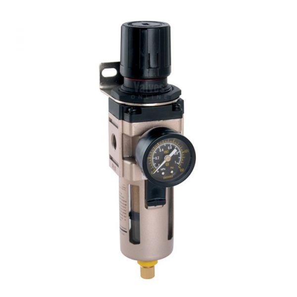 Pneumatic Pressure Piggyback Filter with Regulator