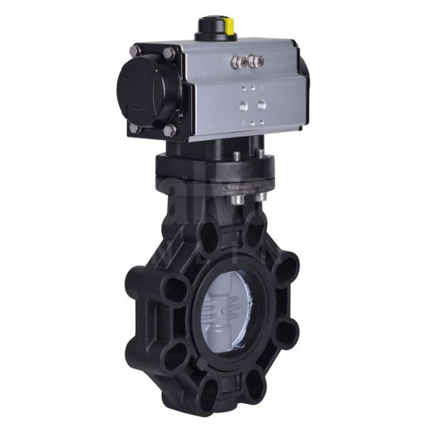 Pneumatic Actuated Extreme Butterfly Valve PVC-C Disc