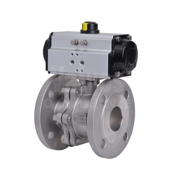 90D Pneumatically Actuated Stainless Steel PN16 Ball Valve