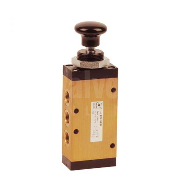 Series 224 Push Button Pneumatic Valve 5/2 - 1/4
