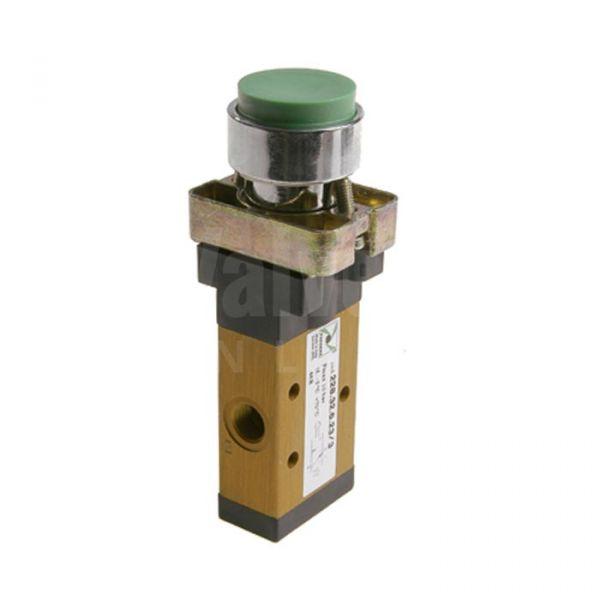 Series 228 Raised Push Button Ø22 Pneumatic Valve 3/2 & 5/2 - 1/8