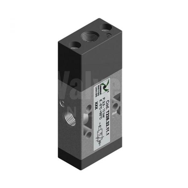 Pneumax Series T228 Mechanical Pneumatic Valve 3/2 & 5/2 - 1/8