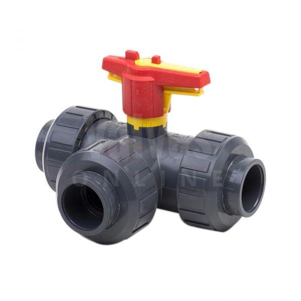 3 Way PVC-U Ball Valve - L or T Port