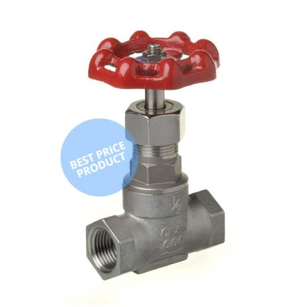Screwed Stainless Steel Gate Valve