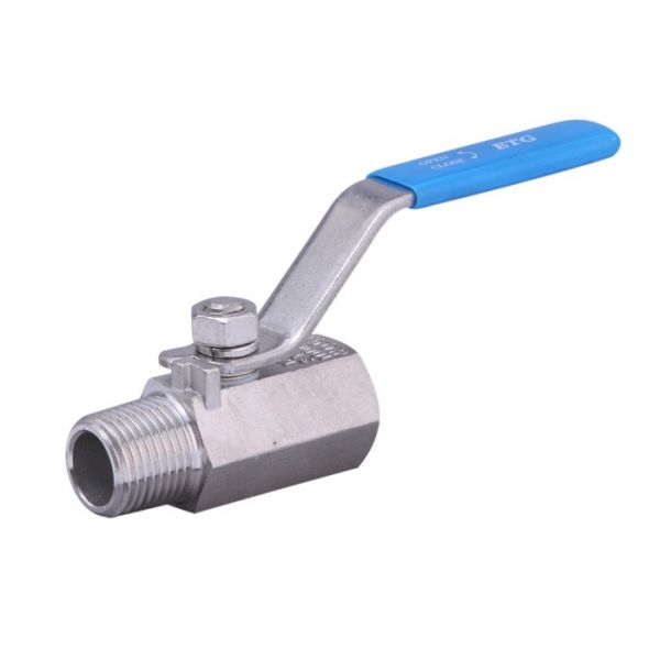 1 Piece Male / Female Stainless Steel Screwed Ball Valve