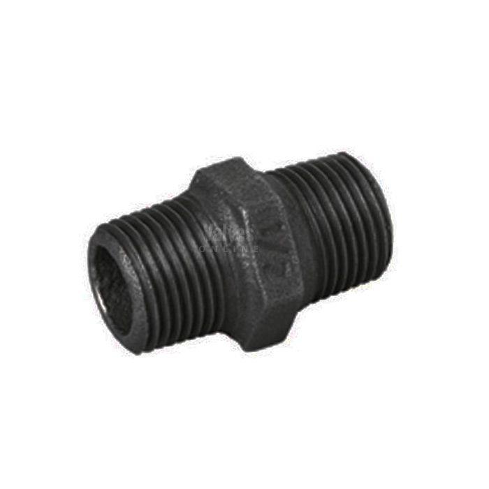 "1/"" BSP Hexagon Nipple Black Malleable Iron Pipe Fitting"