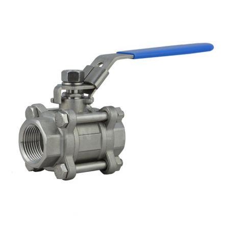 VOLT Manual 3 Piece Stainless Steel Full Bore Ball Valve