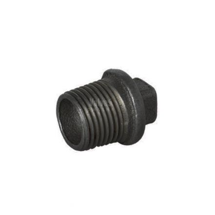 Black Malleable Iron Male Blanking Plug
