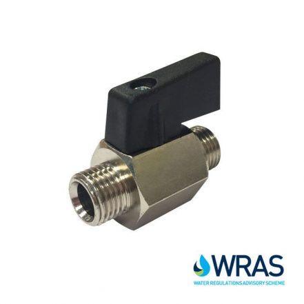 Brass Mini Ball Valve Male / Male