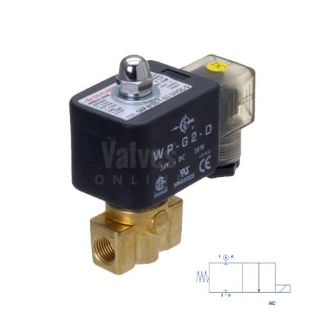 Brass Solenoid Valve 0-120 Bar Rated High Pressure 1/8""