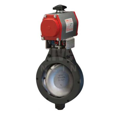 Bray Pneumatic Actuated Butterfly Valve Series 40 Double Offset Carbon Steel