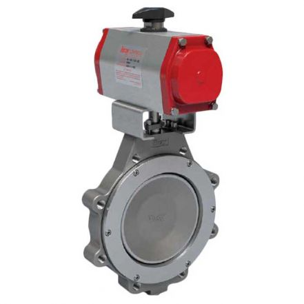 Bray Series 41 Pneumatic Actuated Butterfly Valve PN16 Stainless Steel
