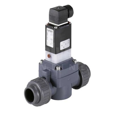 Burkert Type 0142 PVC 2/2 Solenoid Valve for Aggressive Media