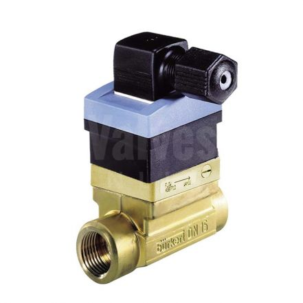 Burkert Type 8030 Brass Inline Flowmeter for Continuous Measurement