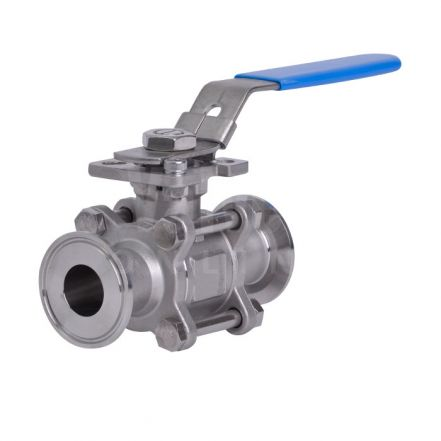 3 Piece Stainless Steel Sanitary Ball Valve