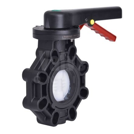 EXTREME Butterfly Valve, PVDF Disc