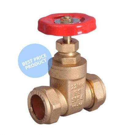 Compression End Brass Gate Valve