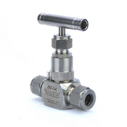 Compression Ended 316 Stainless Steel Needle Valve 6000 PSI
