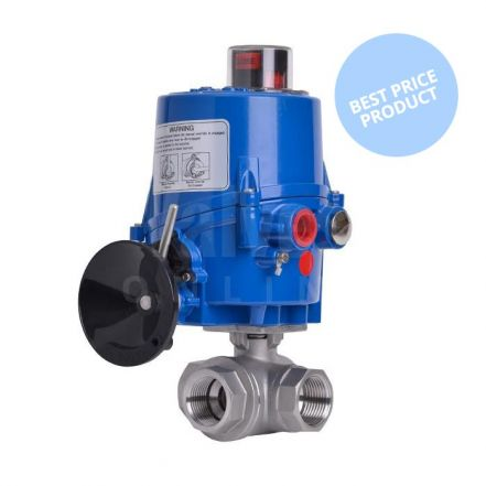 Economy 3 Way Electric Actuated Stainless Steel Ball Valve