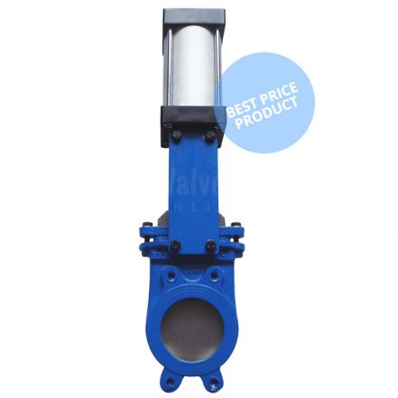 Economy Knife Gate Valve Double Acting Pneumatic Actuator