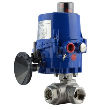 Electric Actuated Screwed 3 Way Brass Ball Valve