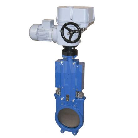 Electric Actuated Knife Gate Valve - Cast Iron