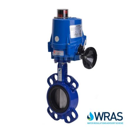 Electric Actuated WRAS Approved Wafer Pattern Butterfly Valve