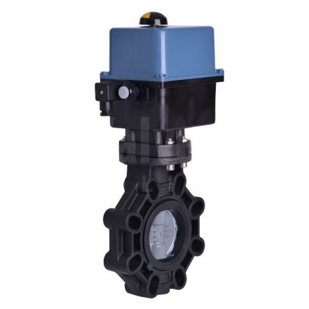 Electric Actuated Extreme Butterly Valve, PVC-C Disc