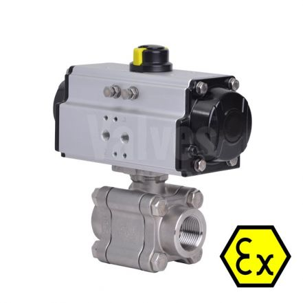 ATEX Pneumatic Actuated Series 88 Ball Valve