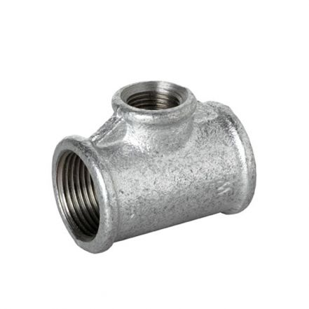 Galvanised Malleable Iron Female Reducing Branch Tee