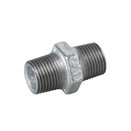 Galvanised Malleable Iron Male Hex Nipple